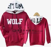 2014 Winter EXO / XOXO / KISS & HUG / wolf sweater / hoodieEXO Beauty and the wolf sweater / EXO sweater sports suit