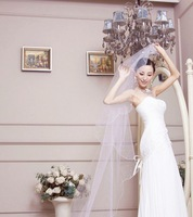 WEDDING BRIDAL BRIDES LONG PEARL WHITE / OFF WHITE CATHEDRAL VEIL 1 Tier