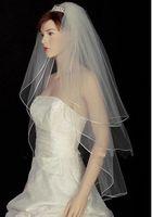 3T Wedding veil Wrist length White or ivory Ribbon edge Wedding Accessories + Comb