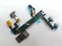 5 pcs/lot ,Power Volume Button Switch On/Off Flex Cable Replacement Part for iPhone 5S,free shipping by air mail
