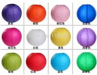 Colors Chinese Paper Lanterns Balloon Lanterns Wedding Festival Decor  12'' round paper lantern lamp