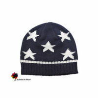 New Children Hats Autumn Spring Boys Knitted Stars Stripes Cotton Hat Quality Kids Hats