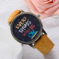 Fabric band Watch Men women quartz watches with cartoon watch Fashion female Wristwatches Woman watches 2014 new