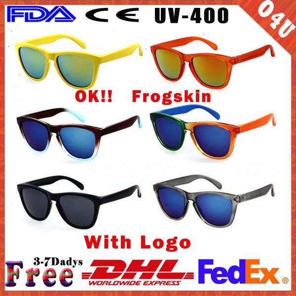 2014 New Frogskin 15 Colors Brand Cycling Eyewear Men Fashion Coating Sport Sunglasses Riding Sun Glass Gafas de sol 50pcs/lot(China (Mainland))