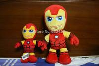 Free shipping 2PCS/lot 20-40cm new marvel plush toys for children Iron man plush dolls anime figure soft dolls birthday gift602