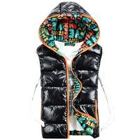 New arrivals men winter coat sleeveless jacket hooded cotton waistcoat winter vest free shipping M L XL XXL
