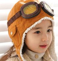 Winter baby earflap,Pilot cap, children hats boys, flight caps,  boy and girl snow hat Free Shipping