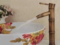Leaf spout 3 sections Antique Bronze Bathroom Bamboo basin Lavabo hansgrohe cozinha torneira banheiro Mixer faucet tap