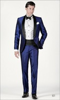 wedding suit for man 2015 the popular groom tuxedos blue custom made men suits free shipping