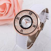 Free shipping 2014 new full imitation Diamond watch women Quartz Watch Dress watch PU