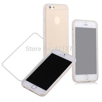 Transparent Clear Ultra Thin Candy Flip Folio Clear TPU Front And Back Skin Cover for iPhone 6 6G Air 4.7 inch 200pcs/lot