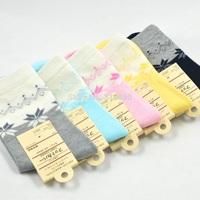 1 lot =5pairs =10pcs Stockings women Maple leaves Lady stockings cotton stockings free shipping