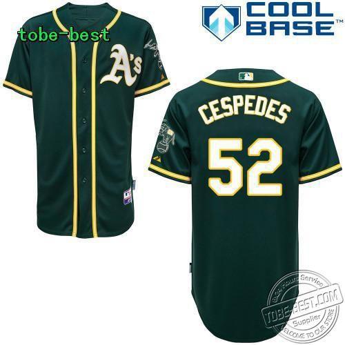 free shipping, Oakland Athletics #52 Yoenis Cespedes soccer boy throwback.baseball jerseys(China (Mainland))