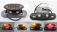 LED Motorcycle Tail Turn Signal Brake License Plate Integrated Light Fr Quad ATV