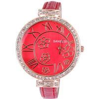 Watch women luxury popular famous brand pu leather band ladies dress cool girls flowers roman hours clock top sale dropship