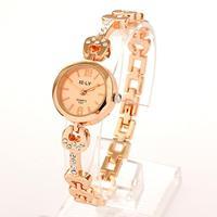 Free Shipping Wholesale Luxury Fashion Partysu Rose Gold Plated Womens Watch Diamond Rhinestone Bracelet Watches For Women