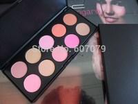 Free Saft DHL(12PCS/LOT)2014 NEW 10 Color Makeup Cosmetic Blush Blusher Powder Palette WITH LOGO full 10 diff color mak up blush