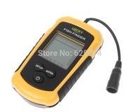 Wholesale - 100m Portable Sonar Sensor Boat Fish Finder Fishfinder LED Back-lighting Alarm Beam Transducer H1863