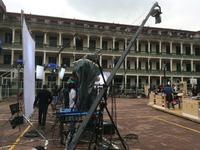 1200cm  camera crane system with motorized pan tilt head for max 10 kg loading
