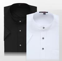 2014 Summer new arrival male short-sleeve shirt stand collar male short-sleeve shirt commercial o-neck casual dress shirt