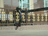 960cm camera crane camera crane, video crane, jib crane with motorized pan tilt head for 10 kg bearing