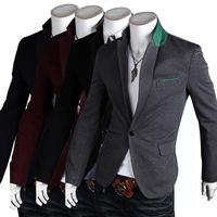 New 2014 Autumn Winter Men leisure suit Blazer fashion Slim leisure Men Suit Blazer Free Shipping Promotions