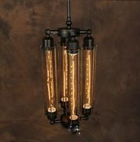 Rh loft vintage pendant light steam punk wrought iron pendant light lamps