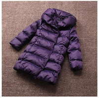2014 New Girls Down&Parkas Outerwear 3 Colors Children's Clothing Jacket Coat Teenage 5-12T Winter Clothes Thick Warm