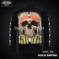 Long sleeve T-shirt skeleton  T-shirt rock empire series T-shirt Luminous design water don't rub off