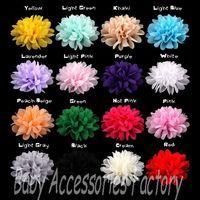 4'' High Quality Chiffon Flatback Flower Artificial Fabric Chiffon Flower Hair Apparel Accessories Hair Flower For Baby Headwear
