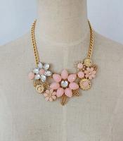 New 2014 SJB551 Fashion Amazing Crystal Beaded Flower Necklaces & Pendants
