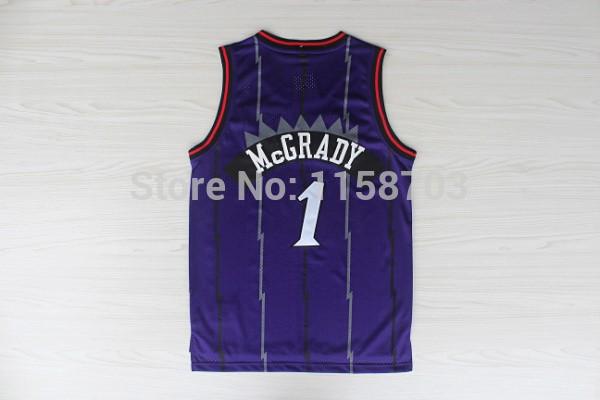 Tracy Mcgrady Jersey Toronto #1 Purple Stitched Basketball Jersey Free Shipping(China (Mainland))