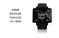 Free shipping 1.33Inch K2 Watch phone Muliti-fucntion TFT TouchScreen FM/MP3 Player Bluetooth Message Unlocked high quality