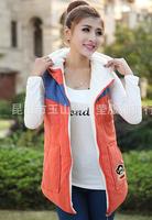 Free Shipping 2014 autumn new Winter fashion Jacket women vests thermal cotton warm velvet cotton vests coat female women 2014