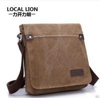 LOCAL LION Business messenger Vin bags tage retro Leather canvas men's travel bag desigual Handbag casual Shoulder Bags Freeship