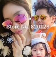 Victoria with senior dazzle colour reflective coating lenses sunglasses sunglasses 3027 frog mirror big glasses
