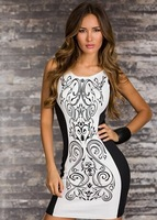 free shipping new arrival 2014 wholesale sexy printed women club dress and club wear