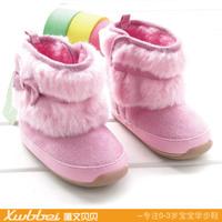 2014 winter snow boots toddler shoes baby girls plus velvet  Foot length 12 ~ 14cm