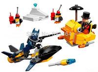 Bela Super heroes series Avengers Batman VS Penguins airship Minifigures Building Blocks Sets Legoland Educational Toys