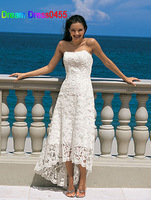 2014 Top Quality Custom Made Ivory/White Satin Lace Beading Cocktail Dress Party Dress Evening Gown