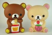 Hot Sales creative gifts tuba easily bear cubs cute cartoon piggy piggy bank coins  VINYL, free shipping