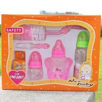Bottle package baby gift set of six baby bottle feeding bottle brush wide aperture