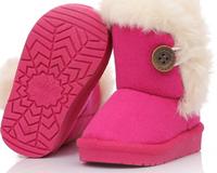 2014New children snow boots fur winter girls Children Thicken Shoes For baby Kids child snow boots