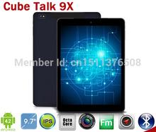 cubo hablar 9x u65gt mt8392 octa núcleo 2.0 ghz tablet pc 9,7 pulgadas 3g llamada telefónica 2048x1536 8.0mp cámara 2gb/32gb ips android 4.4(China (Mainland))
