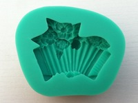 Wholesale 10Pcs/lot soft silicone accordion and roses shapes  shapes cake chocolate candy jello  decorating mold tools
