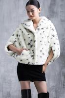 2015 Plus Size Winter Warm Luxury Print Overcoats Ladies Elegant Mink Fur Jacket New Fashion Women's Fur Outerwear Coat A023