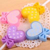 Eraser Correction Supplies Korea Round Lollipop Love Eraser Books School Supplies Stationery Cute Kawaii