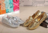 Wholesales LU 100% Genuine Leather Loafers Moccasin Gommino Flats Fashion Lady Loafers