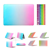 """4 Styles Rainbow Rubberized Matte Hard Case Keyboard Cover skin For MacBook Air 11 13.3 Pro 13 Retina 13"""" 15"""""""