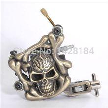Hot Sell Brass Skull Tattoo Machine Guns for Beginner& Tattoo Machine Supplies free shipping(China (Mainland))